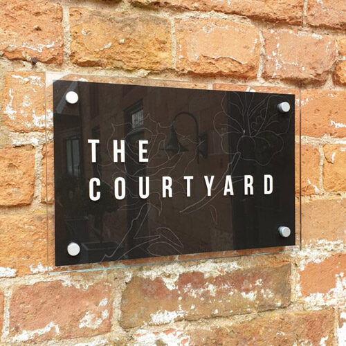The Courtyard Outdoor Signage